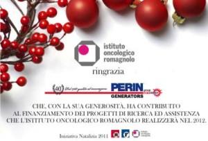 Perin Generators sostiene l'Istituto Oncologico Romagnolo (IOR)