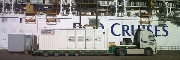Energia PERINGENERATORS per il varo della nuova e lussuosissima nave da crociera Britannia