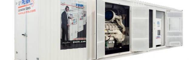 PERINGENERATORS progetta e costruisce un nuovo generatore in container da 1500 KVA
