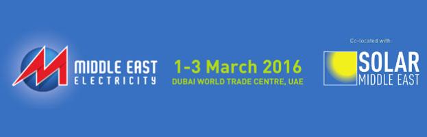 1-3 marzo 2016: PERINGENERATORS alla fiera MIDDLE EAST ELECTRICITY (Dubai, Emirati Arabi Uniti).