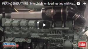 PERINGENERATORS video: test di carico dei motori Mitsubishi!