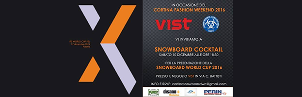 December 10: PERINGENERATORS at the Presentation of Snowboard Worl Cup 2016 (Cortina d'Ampezzo – Italy)