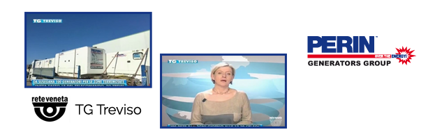 LIVE: PERINGENERATORS al telegiornale TG Treviso per l'emergenza elettrica in Abruzzo