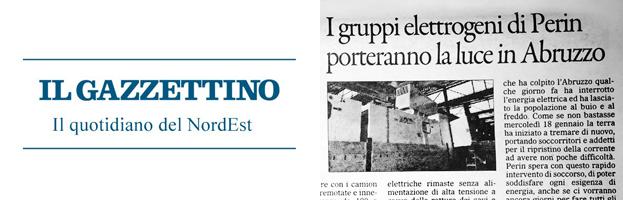 Il Gazzettino: PERINGENERATORS porterà luce in Abruzzo