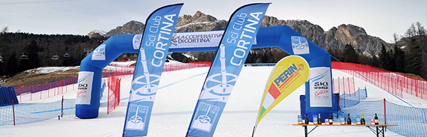 PERINGENERATORS with the Cortina Ski Club at FIS Giant Slalom