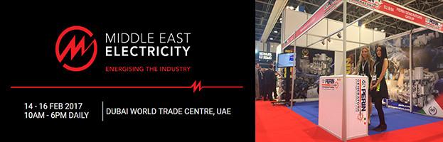LIVE: PERINGENERATORS alla fiera Middle East Electricity 2017 (Dubai, Emirati Arabi Uniti)