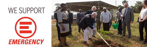 PERINGENERATORS insieme a Renzo Piano per la posa della prima pietra del nuovo ospedale di EMERGENCY (Entebbe, Uganda)