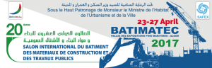23-27 April: PERINGENERATORS at BATIMATEC EXPO 2017 (Algiers, Algeria)