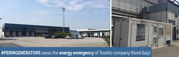 PERINGENERATORS saves the energy emergency of Tosetto company (North of Italy)