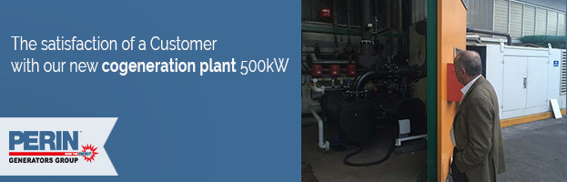 PERINGENERATORS: New cogeneration plant 500kW with satisfied customer