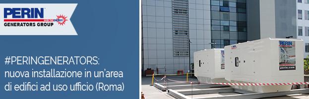 PERINGENERATORS: nuova installazione in un'area di edifici ad uso ufficio a Roma