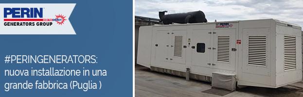 PERINGENERATORS: Nuova installazione in una grande fabbrica in Puglia