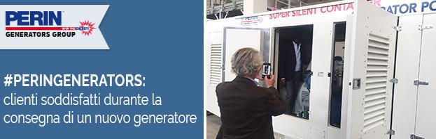 PERINGENERATORS: clienti soddisfatti alla consegna di un nuovo generatore di corrente