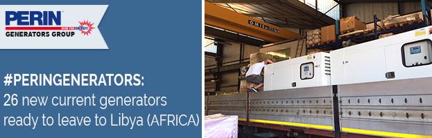 PERINGENERATORS: 26 new current generators ready to leave to Libya (AFRICA)