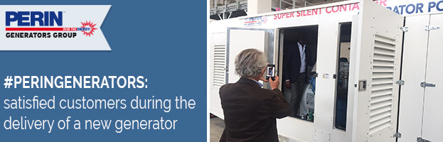PERINGENERATORS: satisfied customers during the delivery of a new current generator