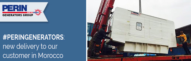 PERINGENERATORS: new delivery  to our customer in Morocco