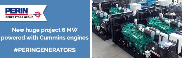 PERINGENERATORS: nuovo enorme progetto da 6 MW con motori Cummins
