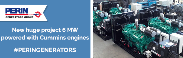 PERINGENERATORS: new huge project 6 MW powered with Cummins engines