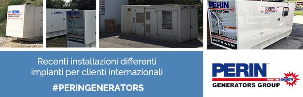PERINGENERATORS: nuove installazioni di impianti per clienti internazionali