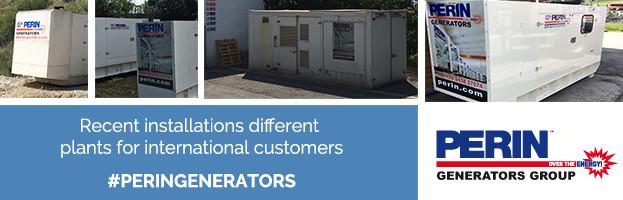 PERINGENERATORS: recent installations different plants and customers