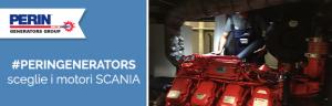 Speciali motori SCANIA per i generatori di PERINGENERATORS