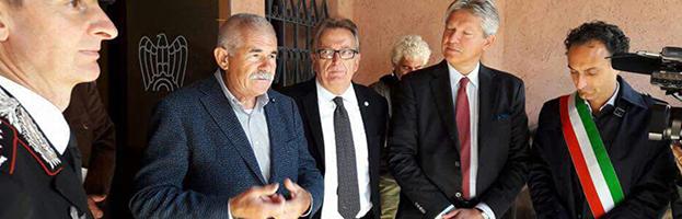 """Il presidente Diotisalvi PERIN all'inaugurazione della mostra """"Sulle ali della memoria, la Grande Guerra"""""""