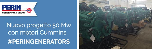 PERINGENERATORS nuovo progetto:  50 Mw con motori Cummins