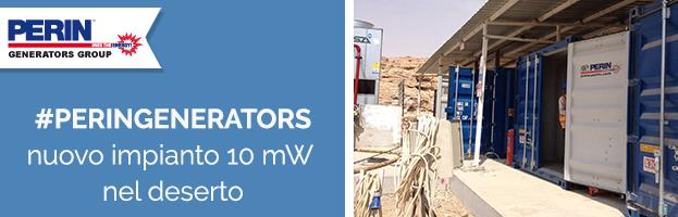 PERINGENERATORS: nuovo impianto energetico da 10 Mw nel deserto