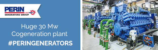 PERINGENERATORS new installation: Huge Cogeneration plant 30 Mw
