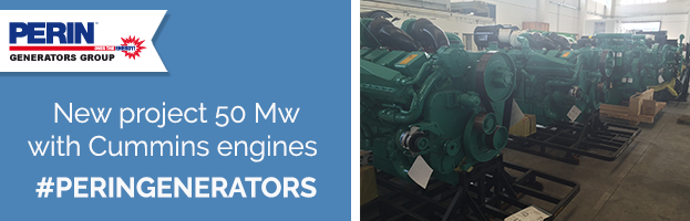 PERINGENERATORS new project: 50 Mw with Cummins engines
