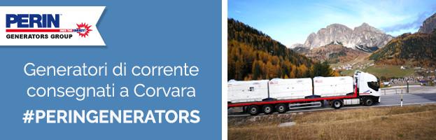 PERINGENERATORS: generatori di corrente consegnati a Corvara (Alta Badia)