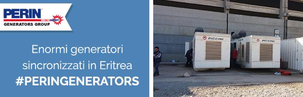 PERINGENERATORS: enormi generatori sincronizzati con motore Perkins in Eritrea