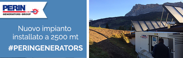 PERINGENERATORS: nuova installazione a 2500 metri
