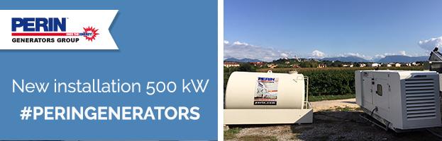 PERINGENERATORS: new installation 500 kW