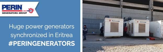 PERINGENERATORS: huge power generators synchronized with Perkins engines in Eritrea