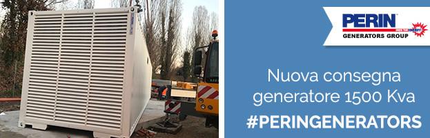 PERINGENERATORS: consegna e messa in opera di un generatore da 1500 Kva