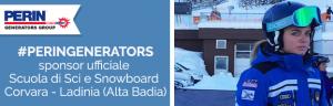 PERINGENERATORS: sponsor ufficiale della Scuola Sci e Snowboard Corvara Ladinia (Alta Badia)