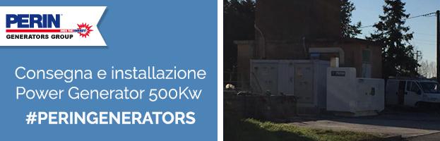 PERINGENERATORS: consegna e messa in opera di un generatore da 500 Kva