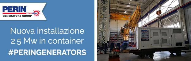 Nuova consegna: grande generatore 2.5 Mw in container