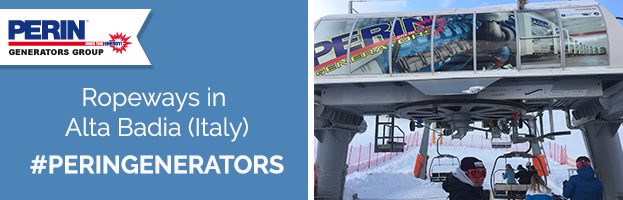 PERINGENERATORS supplies energy to the ropeways in Alta Badia (Italy)