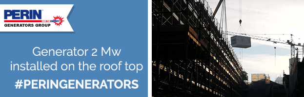 Roof top: new installation power generator 2 Mw by PERINGENERATORS