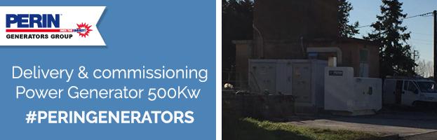 PERINGENERATORS: delivery & commissioning power generator 500 Kva
