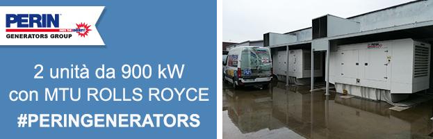 Nuova installazione: 2 unità sincronizzate 900 kW ciascuna con motori MTU ROLLS ROYCE