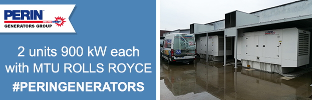 New installation: 2 units synchronized 900 kw each with MTU ROLLS ROYCE