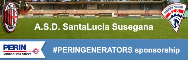 FOOTBALL SECTOR: PERINGENERATORS sponsor of A.S.D. SantaLucia  Susegana (Italy)