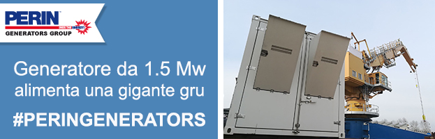 PERINGENERATORS: generatore da 1.5 Mw alimenta una gigantesca gru