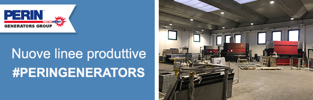 Nuove linee di produzione, carpenteria e verniciatura per generatori di energia 100% made in PERINGENERATORS