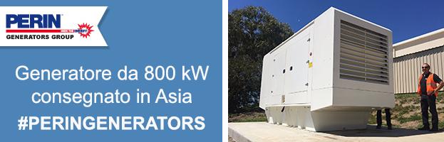 PERINGENERATORS: nuovo generatore da 800 kW installato in Asia