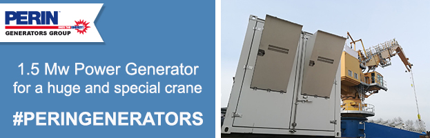 PERINGENERATORS: 1.5 Mw power generator for huge special crane