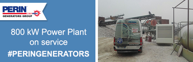 800 kw Power plant on service by PERINGENERATORS tecnichians